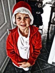 Clara als Weihnachtsmanngemälde